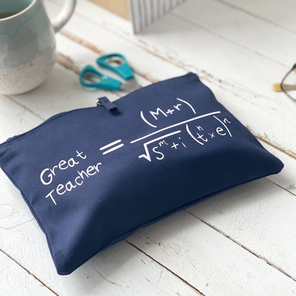 Hidden Message Great Teacher Maths Pencil Case