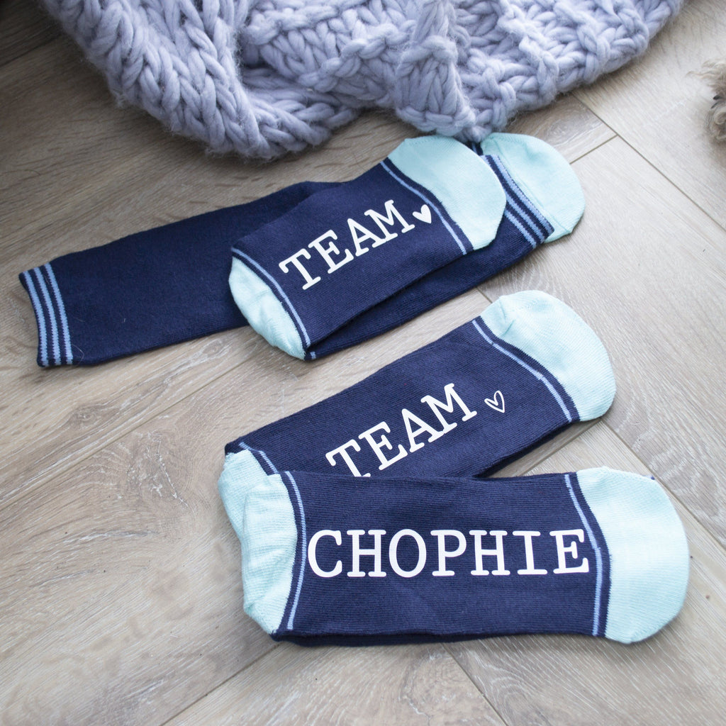 Set Of Team Slogan Socks