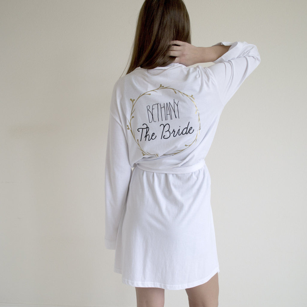 Personalised Bridal Robe, Pyjamas, - ALPHS