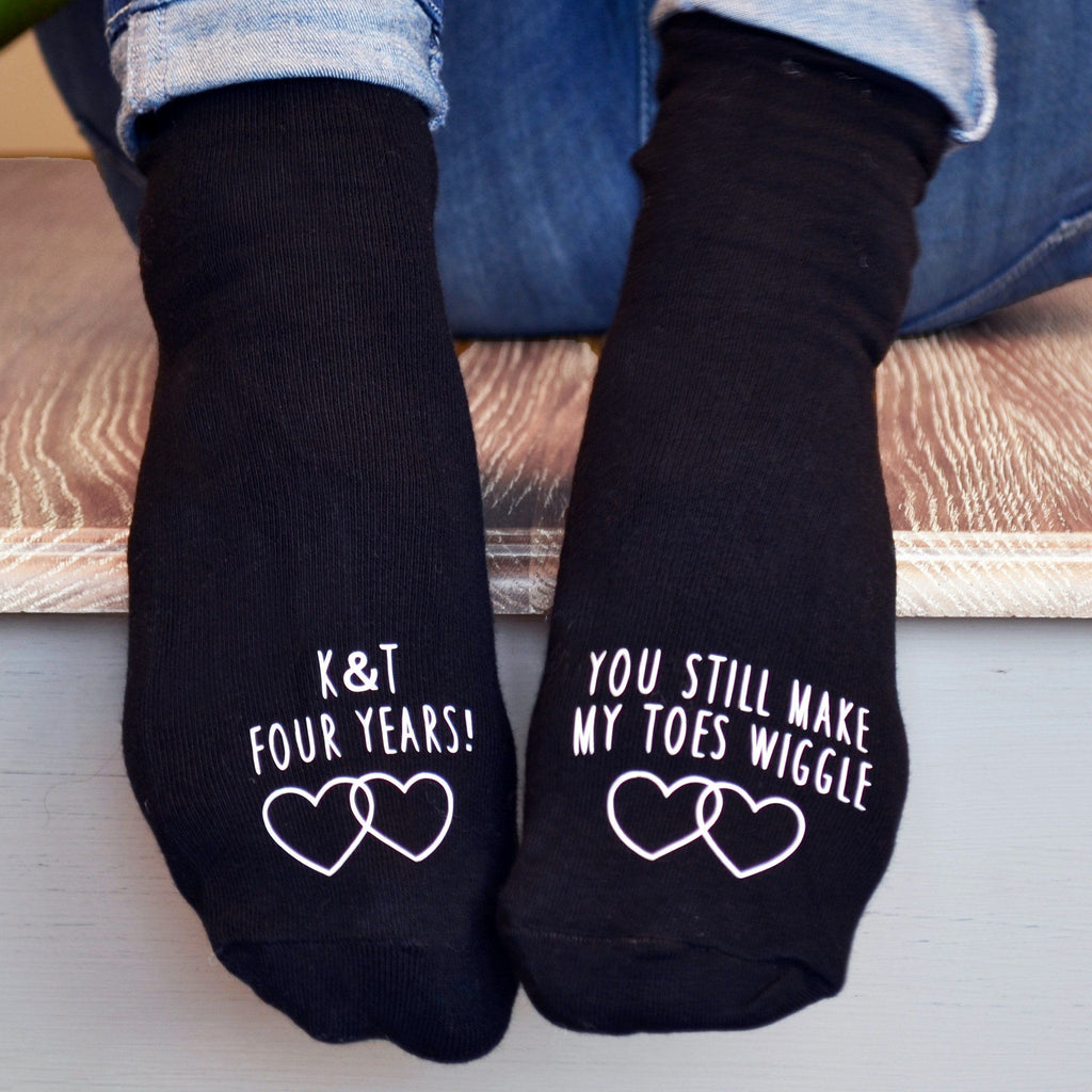 Personalised Anniversary Gift Socks - You Still Make My Toes Wiggle, Socks, - ALPHS
