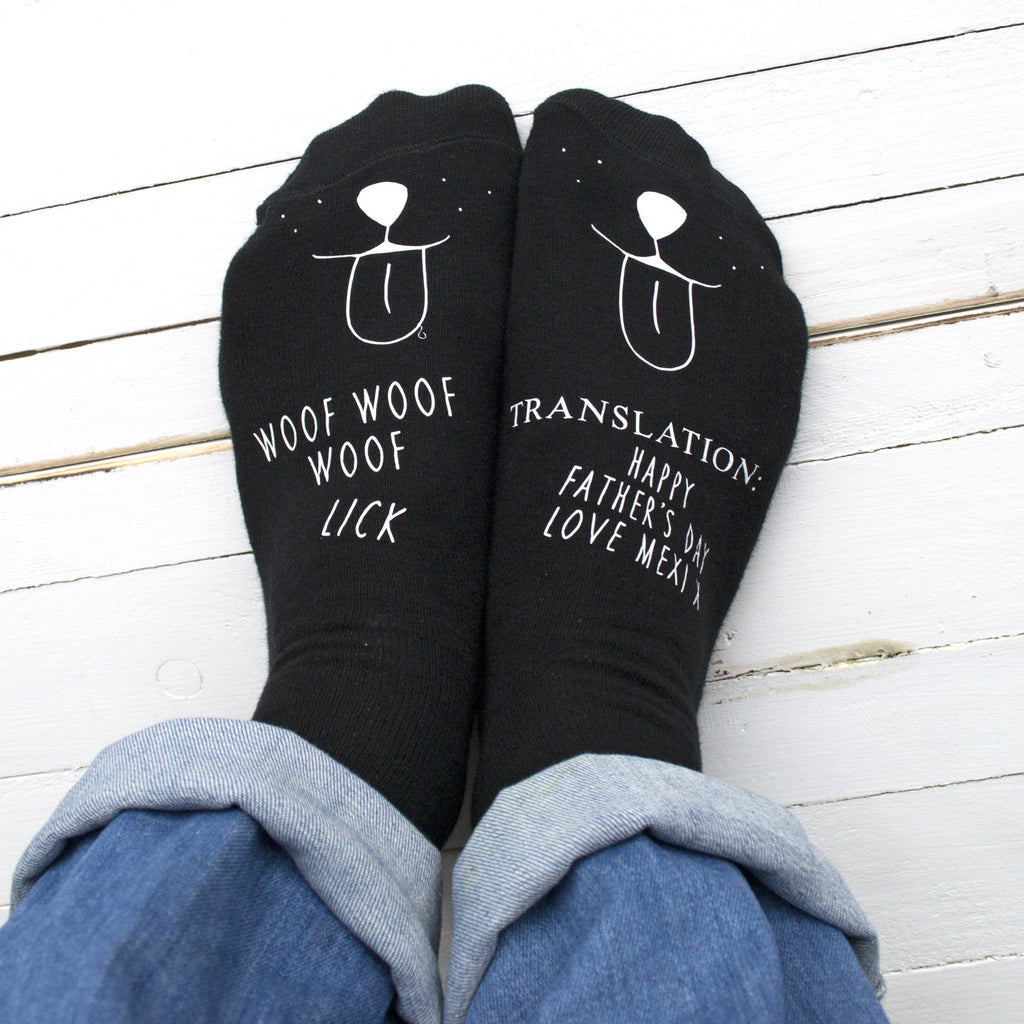 Personalised Translation Socks from the Dog, Personalised Socks, - ALPHS