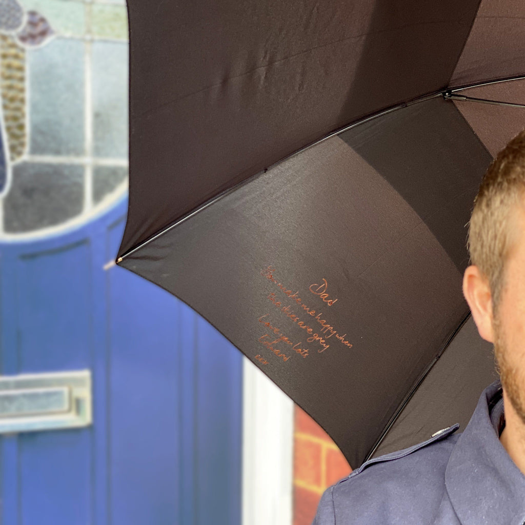 Hidden Message Personalised Father's Day Umbrella