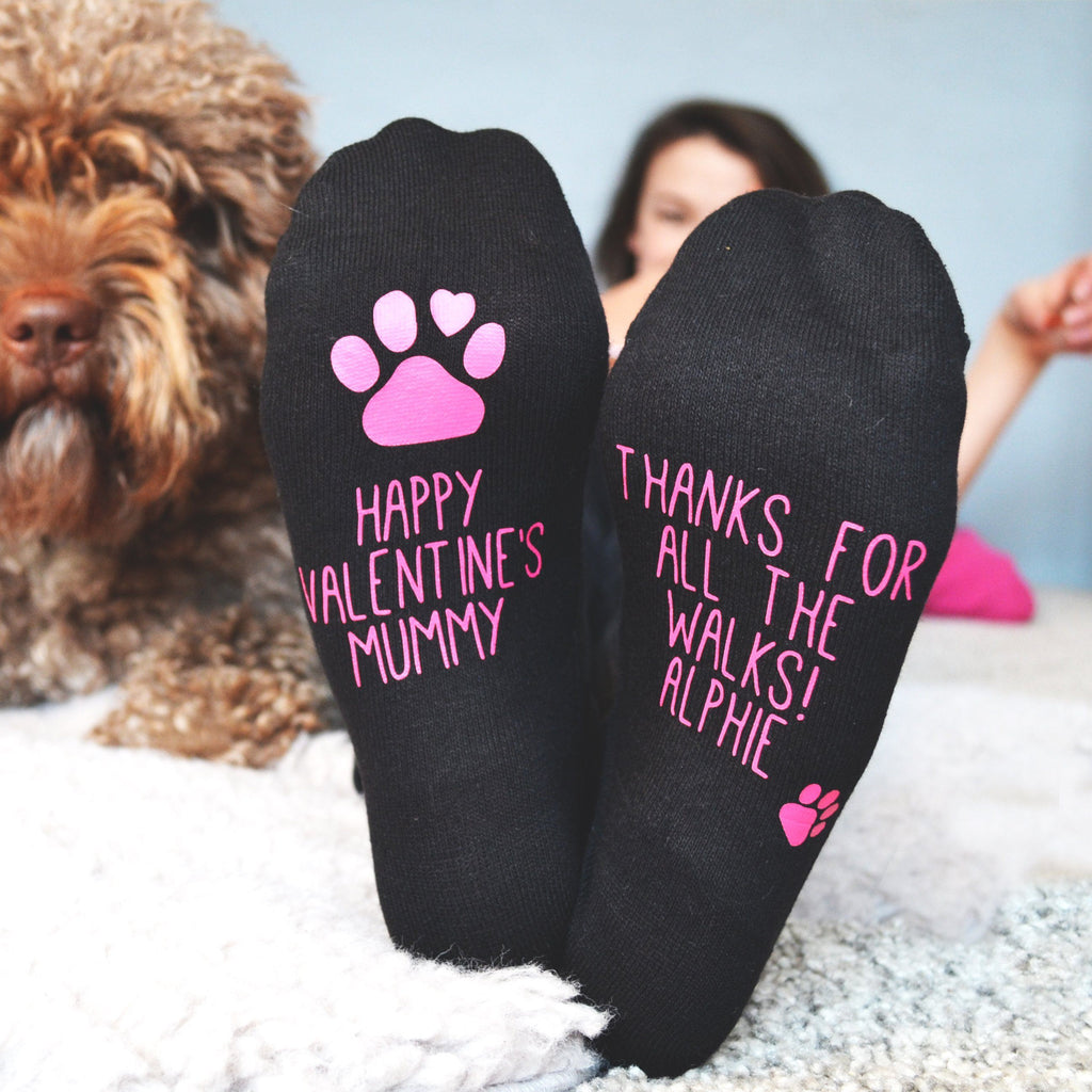 Valentine's Socks From The Dog