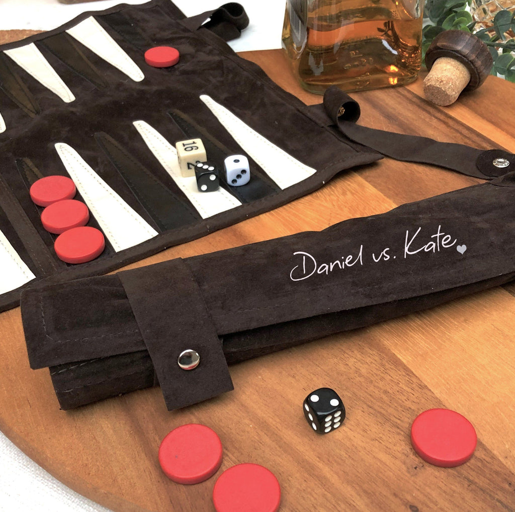Personalised Couple's Backgammon Set, Games, - ALPHS