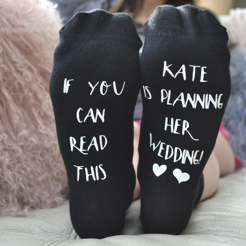 Personalised Gift Socks - Wedding Planning