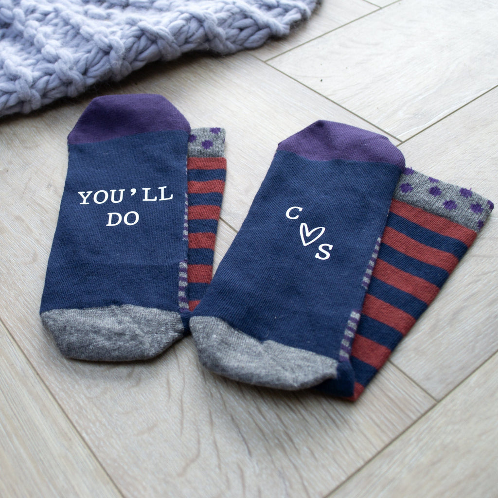 You'll Do Men's Valentine's Gift Socks