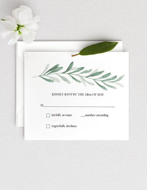 Customizable Meghan RSVP & Envelope Printing