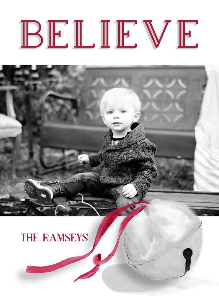 Believe Christmas Card Design