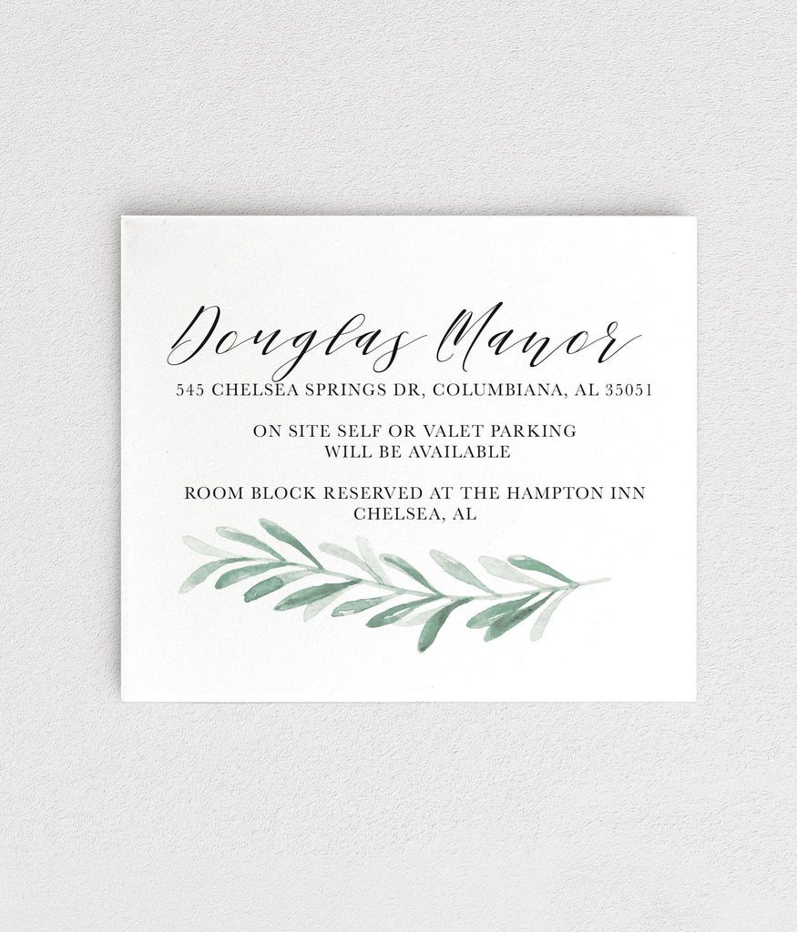 Customizable Meghan Details Card Printing
