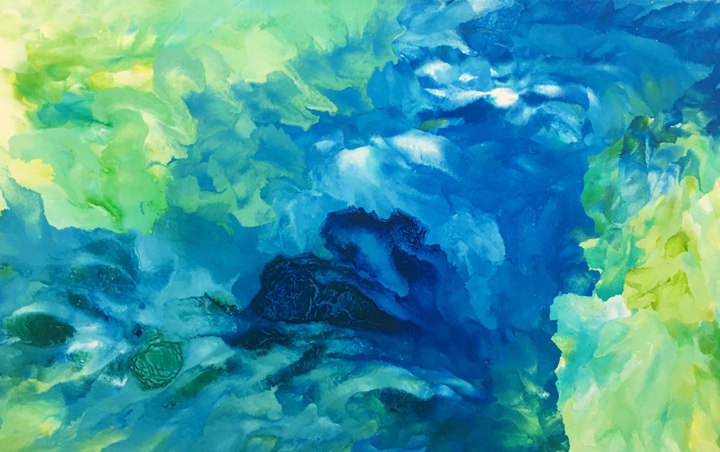 Green & blue painting