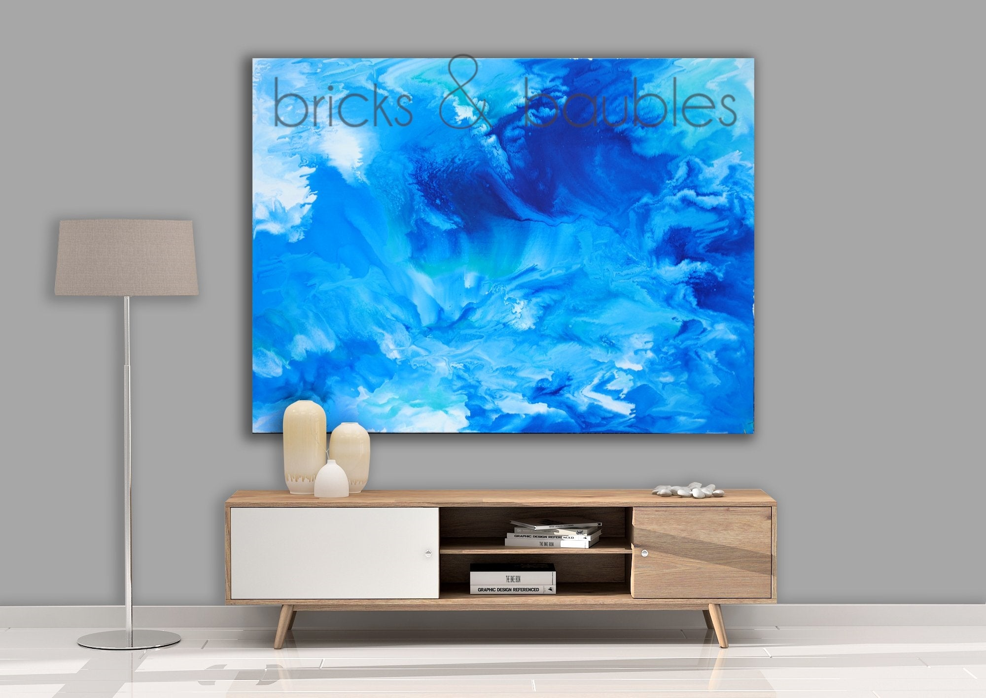 Large Crashing Wave Painting