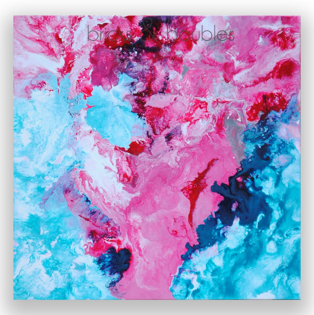 Red & Blue Abstract Painting