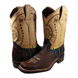 Bota rodeo Cheyenne color cafe tubo beige
