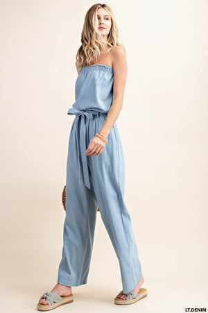 Ready to Go Denim Jumpsuit