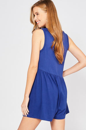 Seriously Shorts Romper - Royal
