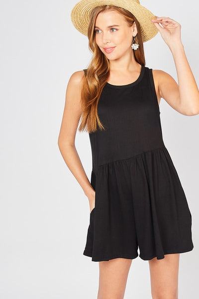 Seriously Shorts Romper - Black