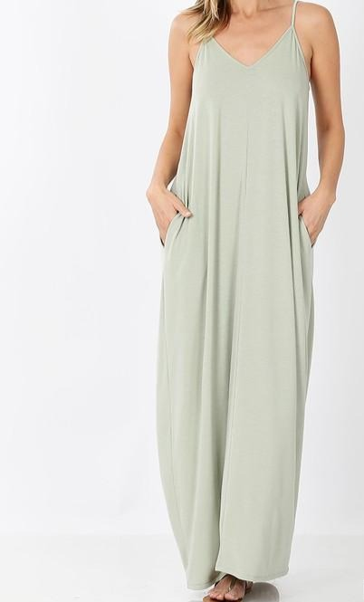 Easy Flow Maxi Dress - Mist