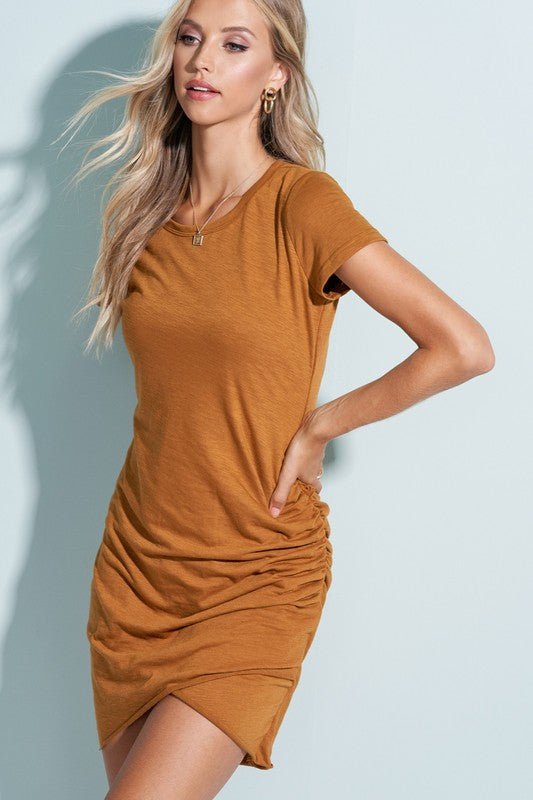 Perfect Fit Shirt Dress - Camel
