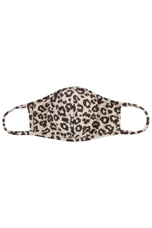 Leopard Print Adult Face Mask