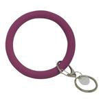Bangle and Babe Bangle Bracelet Key Ring - Plum
