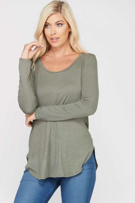 Go-To Long Sleeve Tee - Light Olive