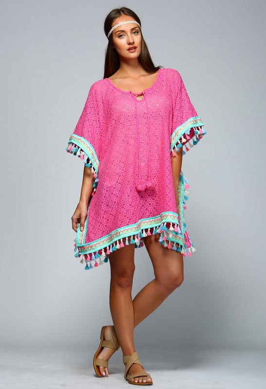 Lace Coverup Tunic