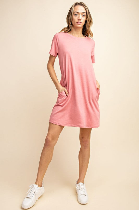 Bring Basic Back T-Shirt Dress