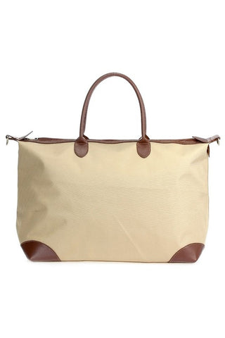 Take It All With Your Weekender Bag - Beige