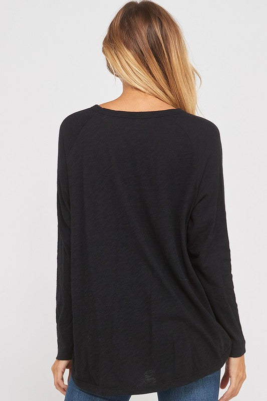 Covering the Basics Long Sleeve Tee - Black
