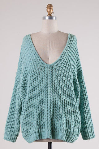 Cable Chain Chenille Sweater
