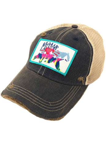 (Navy) Mama Bear Patch Hat- Judith March - PREORDER