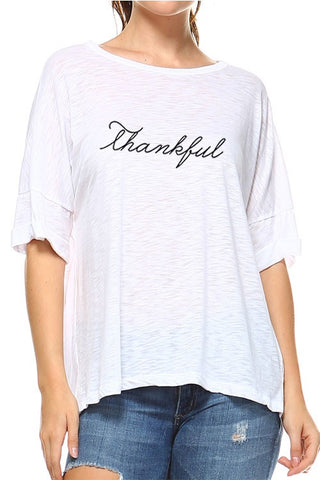 Thankful Tee - White