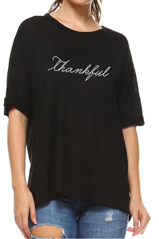 Thankful Tee - Black