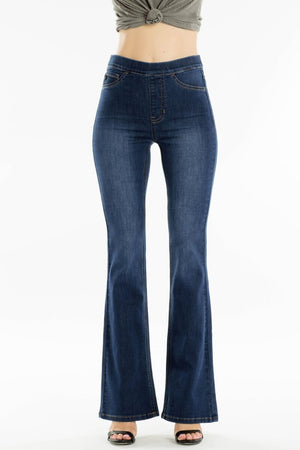 Pull-On Flare Denim