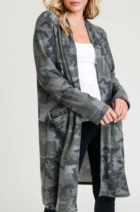 Undercover Camouflage Hooded Cardigan