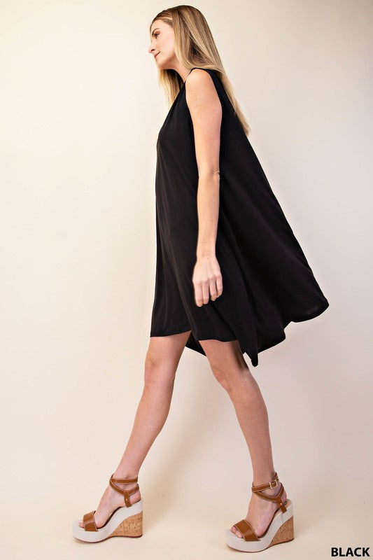 Shark Bite Dress - Black