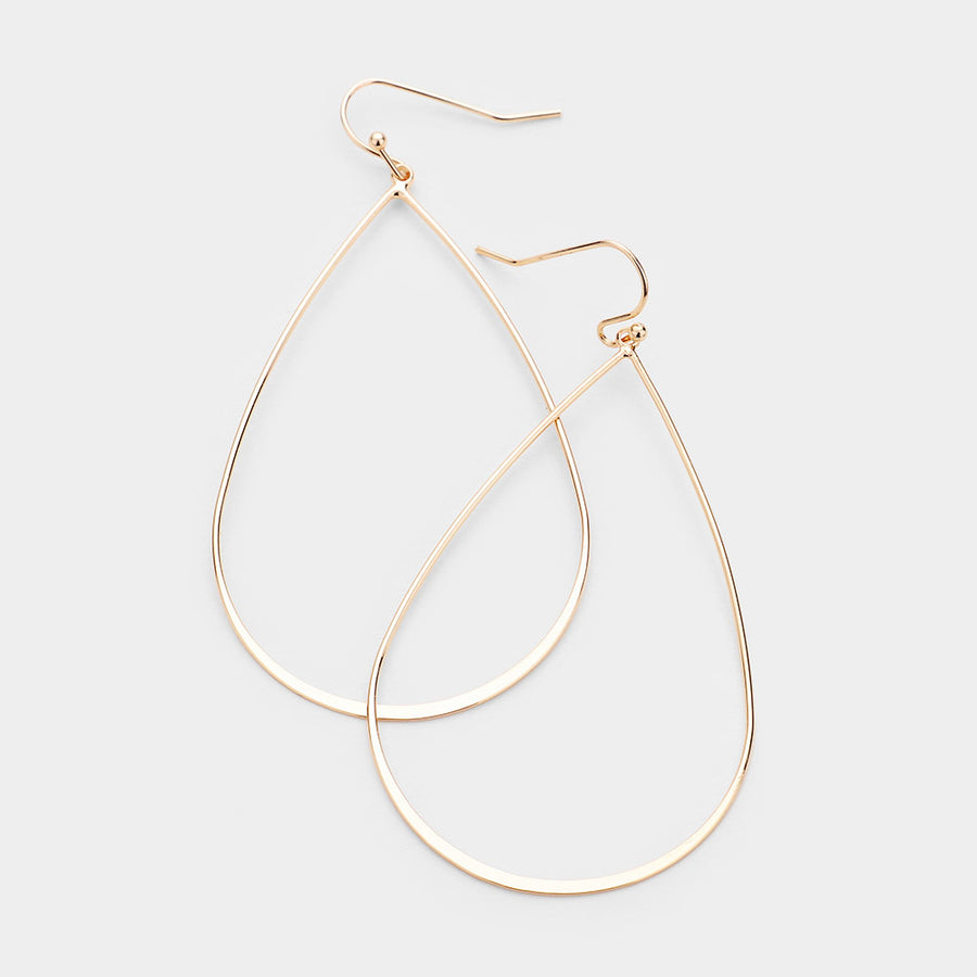 Across The Room Teardrop Hoop Earrings - Gold