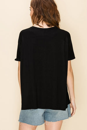 Dynamic V-Neck Tee - Black