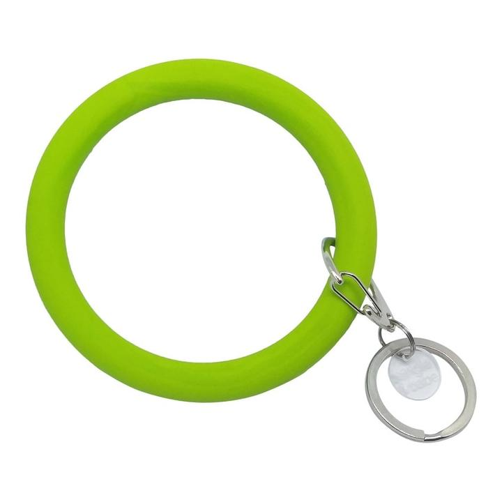Bangle and Babe Bangle Bracelet Key Ring - Chartreuse