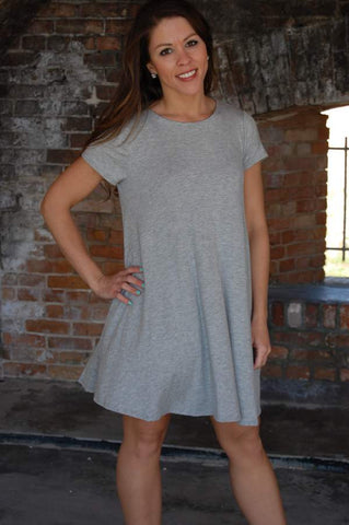 Flying Trapeze Dress {Heather Grey}