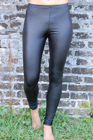 Zoe Leather Look Leggings- Black