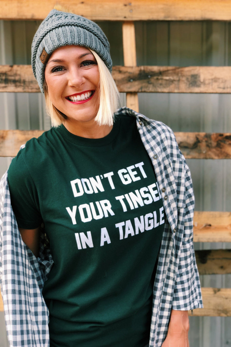 Don't Get You Tinsel In A Tangle Tee