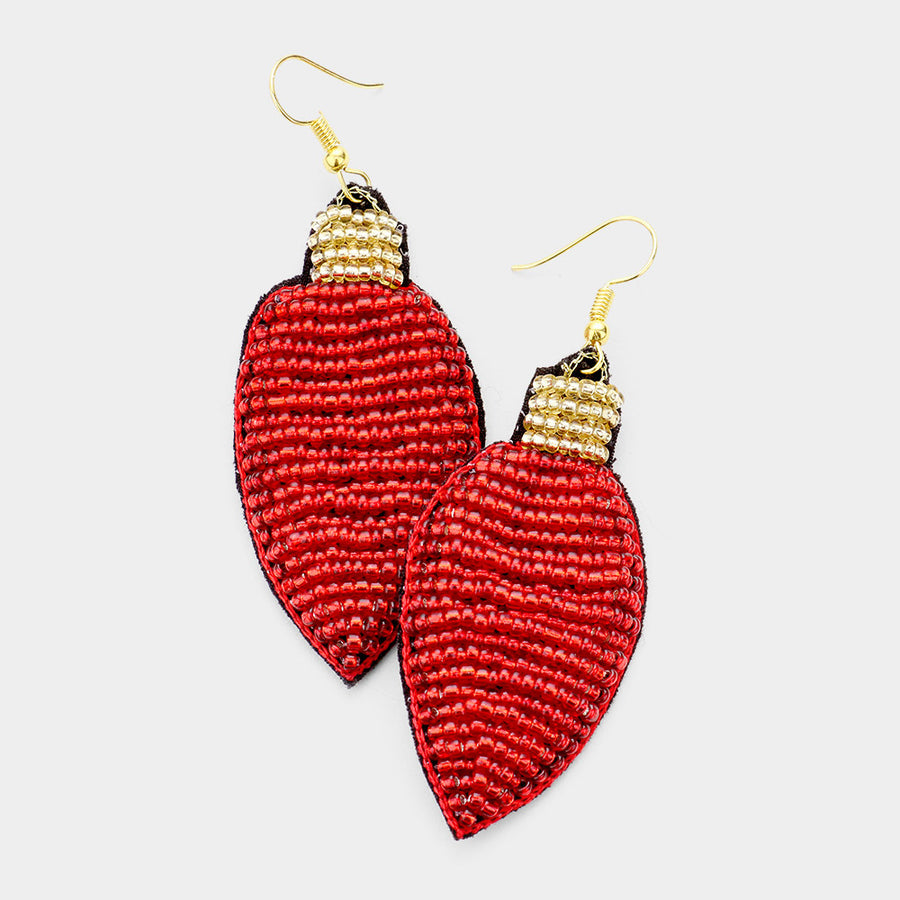 Shine Bright Statement Earrings - Red
