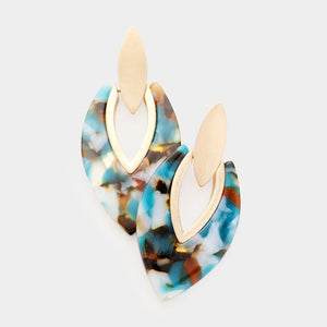 Standing Ovation Statement Earrings - Green