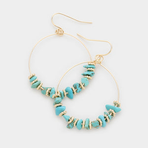Turquoise and Cabo Hoop Earrings