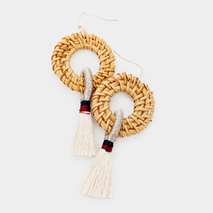 Basket Brilliance Tassel Earrings - Ivory