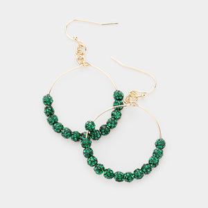 Night Fever Pave Statement Earrings - Emerald