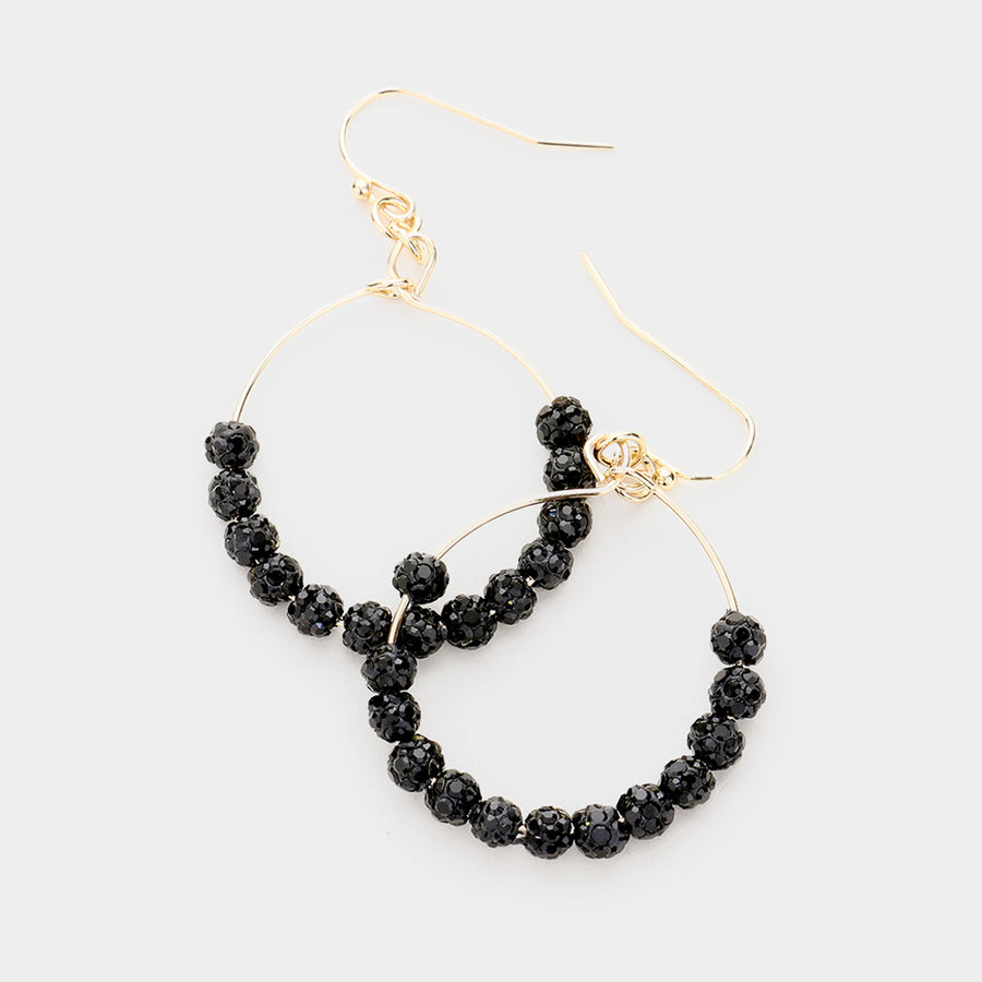 Night Fever Pave Statement Earrings - Jet Black