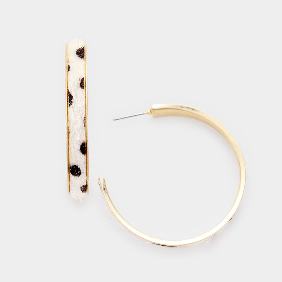 Fierce Feelings Hoop Earrings - Dalmation