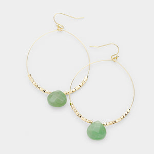 Lighthearted Beaded Earrings - Green
